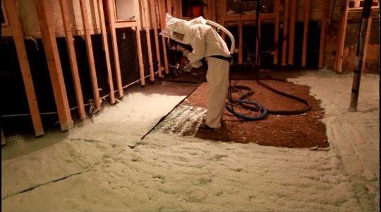 Технология напыления пенополиуретана в подвале