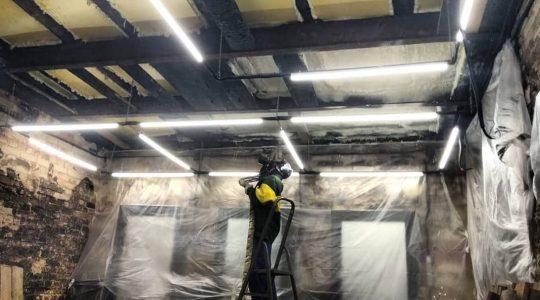 Шумоизоляция ППУ потолка студии красоты за 2 часа