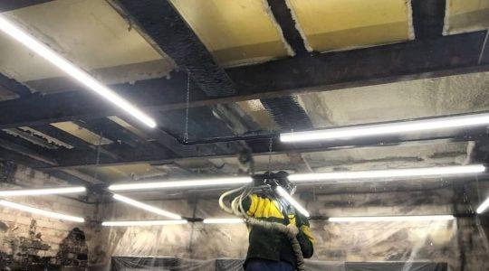 Шумоизоляция ППУ потолка студии за 2 часа